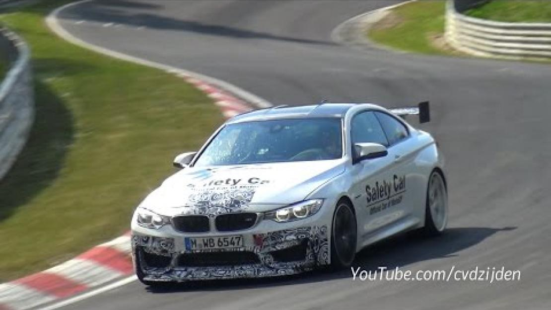 2016 BMW M4 GTS Testing with Bigger Rear Wing on the Nurburgring