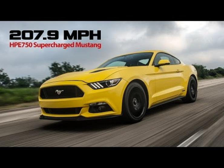207.9 mph Hennessey Mustang
